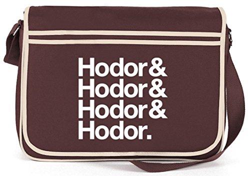 Hodor& Hodor& Hodor& Hodor. Retro Messenger Bag Kuriertasche Umhängetasche Braun