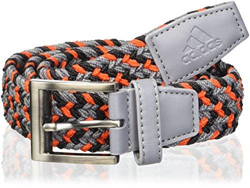 adidas Golf Herren Stretch Gürtel geflochten Weave, Herren, Grey Three/Hi-Res Red, Small/Medium (Taylormade Golf-gürtel)