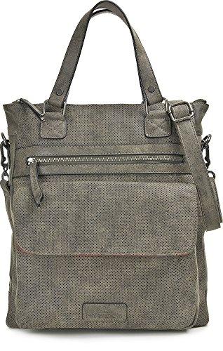 MIYA BLOOM, borse da donna, borse per la spesa, borse, tote-bag, tracolle, 33 x 36 x 10 cm (L x A x P), colore: grigio Anthrazit