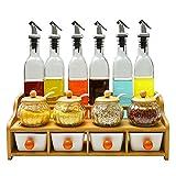 YN Portautensili Forniture da cucina Sale Shaker Barattoli di vetro Barattoli di condimento Scatole di stoccaggio Scatole di spezie Set di vasi di spezie durevole
