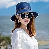 LLZTYM Cappello di Paglia/Donna/Estate/Cappello da Pescatore/Parasole/Cappellino/Protezione Solare/Cappello da Spiaggia/Cappello/Regalo, Giovane