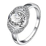 YTB Versilberten Mode - Ring Für Frauen Schmuck Accessoires Nickel Frei
