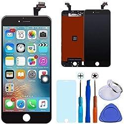 KXC ST Écran LCD Écran Tactile Et numérique Remplacement Pour montage Complet Avec Kit d'outils De Réparation (4.7 Pouces) et La Protection d'écran Pour iPhone 6 (Noir)