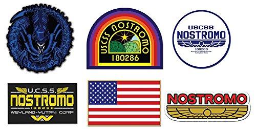 Preisvergleich Produktbild Nostromo Weyland Yutani Corp Sulaco Alien, Aliens Aufkleber , 6 Laminiert Sticker 01