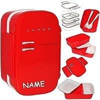 Preisvergleich für alles-meine.de GmbH 7 TLG. Set _ XL Lunchbox / Brotdose / Bento Box - Kühlschrank - auslaufsic..