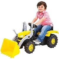 Charles Bentley Pedal Amarillo Infantil de dolu Kid Operado Ride On Digger con Cargador