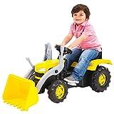 Dolu - Porteur-voiture style pelleteuse - avec godet et pédales - enfant - jaune