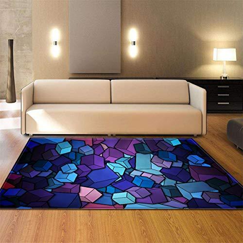 Klein Ball Teppich-Super Weiche Flauschige Anti-Rutsch-Hochflor Teppich Esszimmer Schlafzimmer Badezimmer Teppich Bodenmatte Home Decor121.9X160CM (Kristalle Katzenklo)