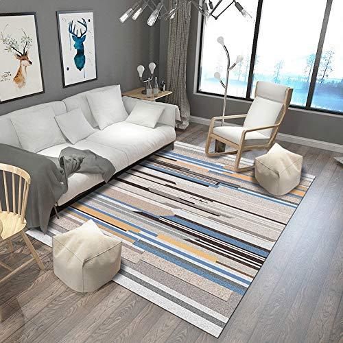 JaYea Farbige Streifen Korridor Teppich Isolierung im Winter Gleiten üBer Einen GroßEn Wohnzimmer-Teppich 18 Arten Von GrößEn VerfüGbar,colorful,80x160cm