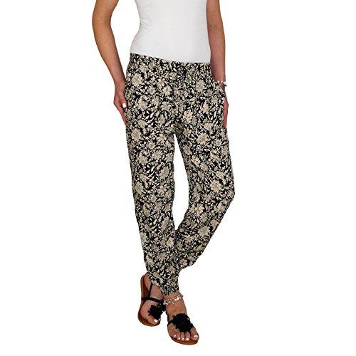 DB Leichte Damen Baumwoll Sommerhose in 9 verschiedenen dekorativen Designs M 06