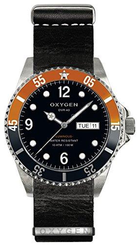 OXYGEN - EX-D-SNK-40-NL-BL - Montre Mixte - Quartz - Analogique - aiguilles luminescentes - Bracelet Cuir Noir