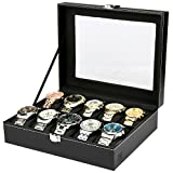 H&S® Glass Lid 10 Watch Jewellery Display Storage - Best Reviews Guide