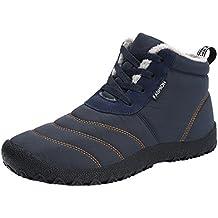 Eagsouni® Herren Damen Winterschuhe Warm Gefüttert Winter Schneestiefel Wasserdicht Kurz Stiefel Outdoor Freizeit Schuhe Schnür Boots