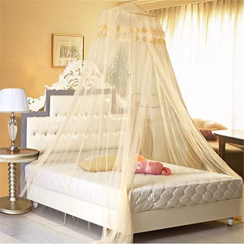 osquito Net, Decken-Spitzendom-Student Keine Notwendigkeit Installation Verschlüsselung Anti-Moskito-Erhöhung Gold ()