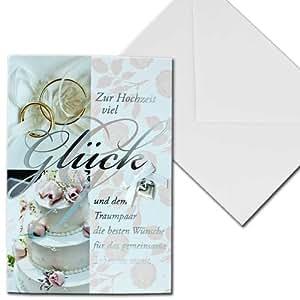 Carte d'invitation mariage avec motif en forme de coeur de gâteau de mariage anneaux de quatre saisons briefkuvert bonheur blanc