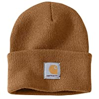 Carhartt A18 Watch Hat Beanies, Original, One Size, Unisex, 100%Polyacryl, elastic (Light Brown)