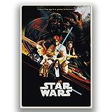 Box Prints Star Wars New Hope Filmfilm Vintage Retro Style Poster Leinwand Kunstdruck Bild Bild groß klein, Small 50x30cm (20