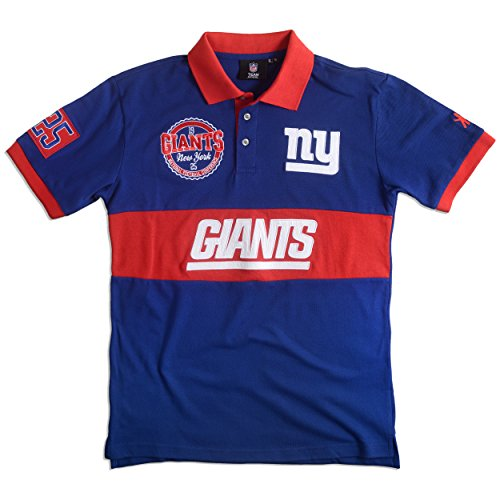 Klew NFL Wordmark Baumwolle Polo, Herren, New York Giants