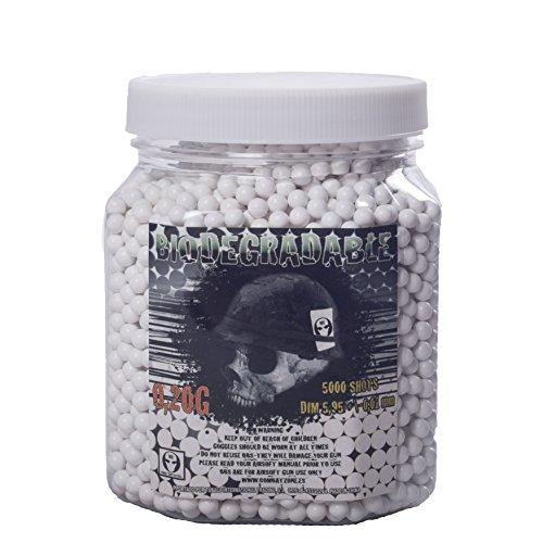Balines pour pistolet à billes Airsoft boat 5000 balles biodégradables 0.20 g