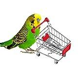 Jouet d'Oiseaux Jouet Caddy Mini Supermarché Panier pour Perroquet Jeu D'Imitation Mini caddie (4.72'X4.53'X2.95', couleur aléatoire)