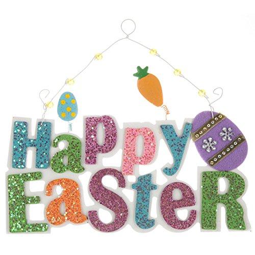 Hobby Lobby Happy Easter Glitzer Holz Wand Decor Pastell -