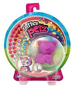 Orb Factory ORB68585 - Loisirs Créatifs - Figurine Animal - Chaton Sadie - Porte-clés à Décorer avec des Joyaux Autocollants - Glitter Petz