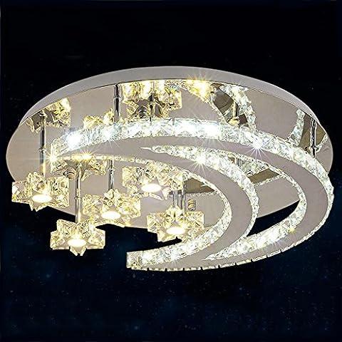 LED de lujo salón Lámparas de iluminación de techo de la personalidad moderna europea cristal redondo dormitorio de la lámpara sala de ambiente