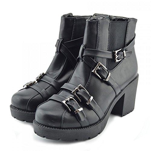 Kick Footwear, Stivali donna Nero opaco