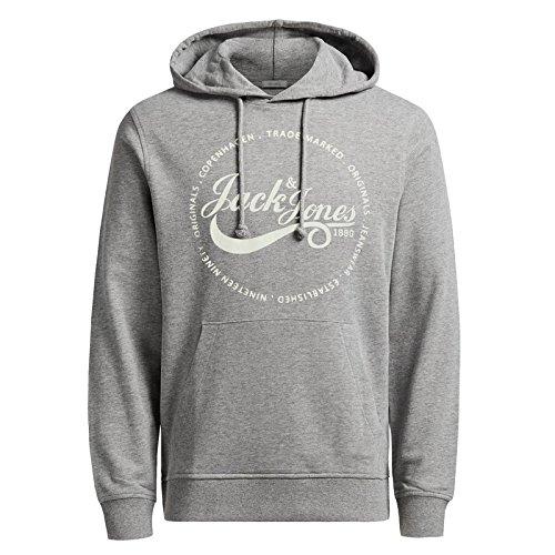 Jack & Jones -  Felpa con cappuccio  - Maniche lunghe  - Uomo Light Grey Melange