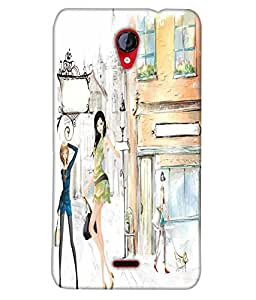 Fuson Shopping Girl Back Case Cover for MICROMAX UNITE 2 A106 - D3678
