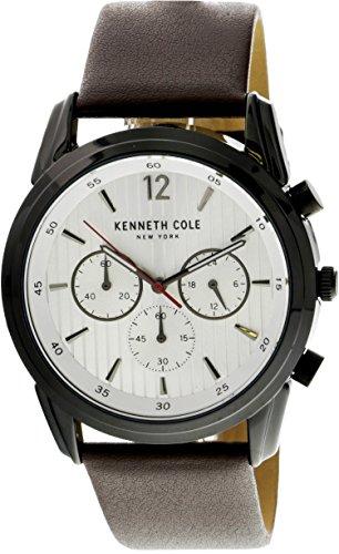 Kenneth Cole Men's KC50229002 Black Leather Japanese Quartz Fashion Watch
