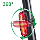 ZEEFO Fahrradbeleuchtung Superhell Wiederaufladbar Wasserdicht LED Fahrradbeleuchtung set mit 400 Lumen intelligenter Sensor Vorderlicht und rotes Rücklicht mit 4 Modi, kompatibel mit Mountainbikes, Straßenrädern, Kinder- & City-Fahrrädern, erhöhte Sicherheit und Sichtbarkeit (Black) -
