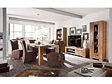 massivum Stark Wohnwand Holz braun 35 x 103 x 190 cm