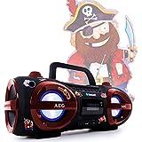 Stéréo une radiocassette CD MP3 Player Bluetooth USB SD avec des autocollants de pirate