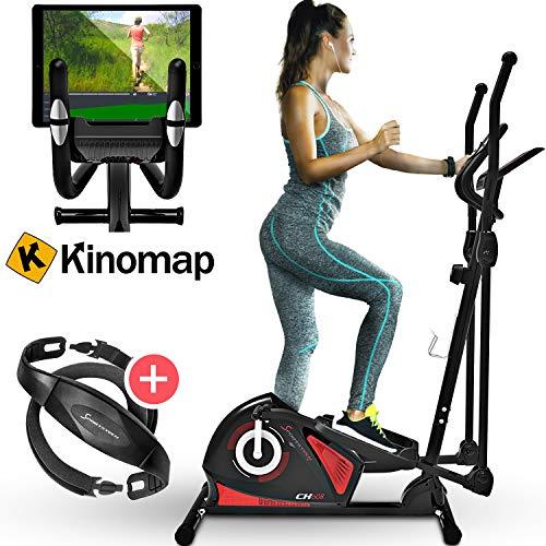 Sportstech CX608 Crosstrainer mit Smartphone App & Bluetooth Konsole, Pulsgurt kompatibler Ellipsentrainer mit Tablet-Halterung-Ergometer, 12 Kg Schwungmasse, Heimtrainer mit 3 teiligem Kurbelsystem preisvergleich