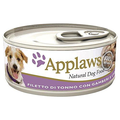 APPLAWS DOG In lattina con tonno gamberi e carotine umido cane gr. 156