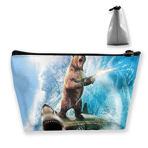 Shark Bär Duschvorhang Reise Make-Up Tasche Kosmetiktasche Organizer Aufbewahrungstasche Für Frauen Schönheit - Amys Bären