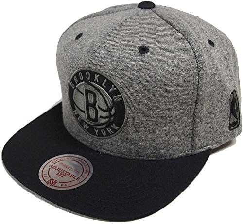 Mitchell   Ness Brooklyn Nets EU449 Jersey Grey Black Snapback Cap Basecaps  NBA 18d7c48f70c