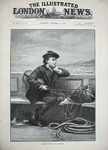 Mer 1889 de Musique de Violon de Bateau de Little Boy d'Art de Fie de Chevalier