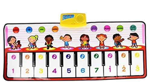 Kaiki Música para teclado de los niños,Nuevo tacto del teclado del juego Música musical que canta la estera de la alfombra del gimnasio El mejor regalo del bebé de los cabritos
