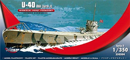 Mirage hobby - u-40 ixa (torre i) sottomarino tedesco scala 1: 350