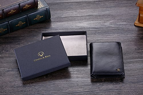 51i7ZBi1XEL - Cronus & Rhea® | Luxury wallet with coin pocket made of exclusive leather (Charon) | Wallet - Wallet - Wallet - Money Clip | Real leather | With elegant gift box | Men