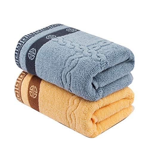 HWH Paar Handtuch, Baumwolle Verdickung Erwachsene Kind Sport Starke Wasseraufnahme Handtuch Hotel Restaurant Baden Reinigung Handtuch 76 * 33 CM 2 STÜCKE Saugfähige Handtücher ( größe : 33*76CM )