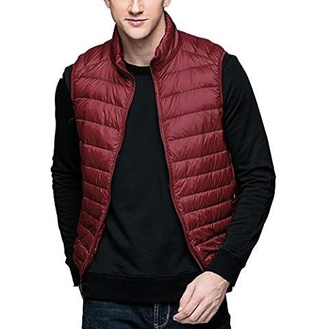Zhuhaitf BONNE QUALITÉ Men's Thin Vest Sleeveless Down Jackets Ultra Leightweigth Zipper Outerwear
