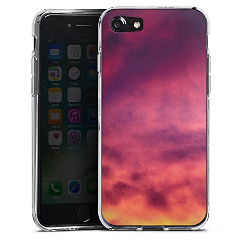 Apple iPhone X Silikon Hülle Case Schutzhülle Lila Wolken Himmel Silikon Case transparent