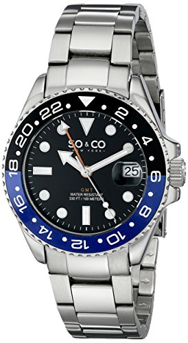 SO & CO New York Herren-Armbanduhr Yacht Club Analog Quarz Edelstahl 5021.3 (Yacht-band)