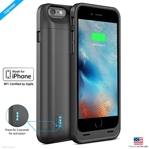 ZAAP iPhone 6/6S Battery Case/Charging case/3100 mAh Slim Power Bank(Grey)