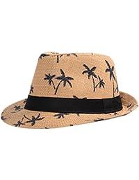 JUNGEN Sombrero de paja de sombrero de paja sombrero de sombrero de sombrero de sol de sombrero de playa para el viaje o la playa en el verano