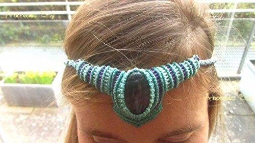 Oráculo Visión Collar Fluorita Arcoíris Talismán Protección Reiki Magia Tiara Tribal Etnico Bosque Curación Tolkien Wicca Hadas STONEHENGE MITOLOGIA