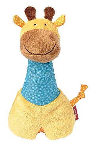 Sigikid 41942 - Mädchen und Jungen, Stabrassel Greifling Giraffe, orange/blau